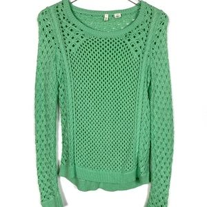 Moth XS Green Knit Long Sleeve Sweater